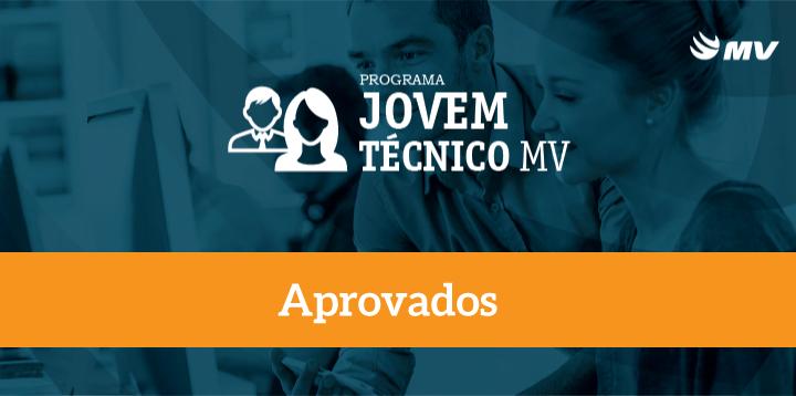Aprovados no projeto Jovem Técnico MV