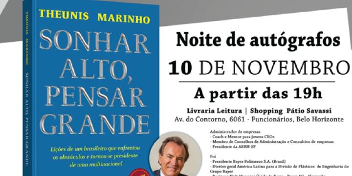 Theunis Marinho lança livro em BH sobre como alcançar o sucesso no meio corporativo
