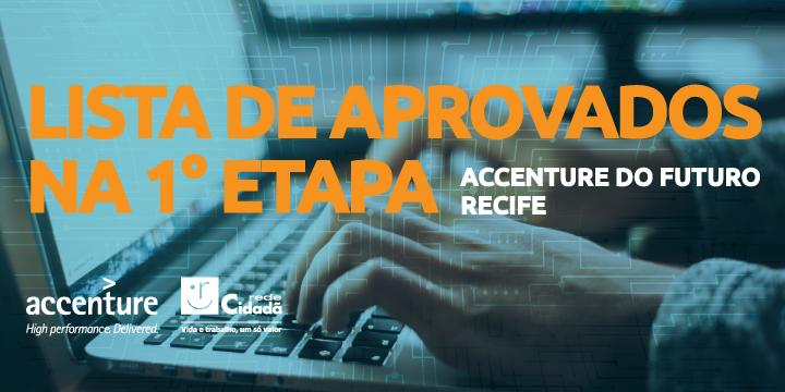 Accenture do Futuro: lista de aprovados na 1° etapa