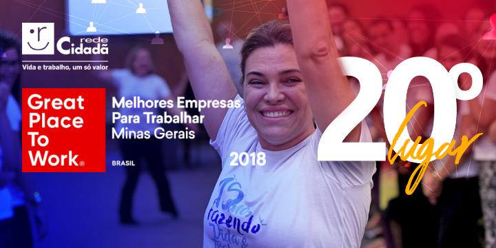 Rede Cidadã é a 20ª melhor organização para se trabalhar em Minas Gerais