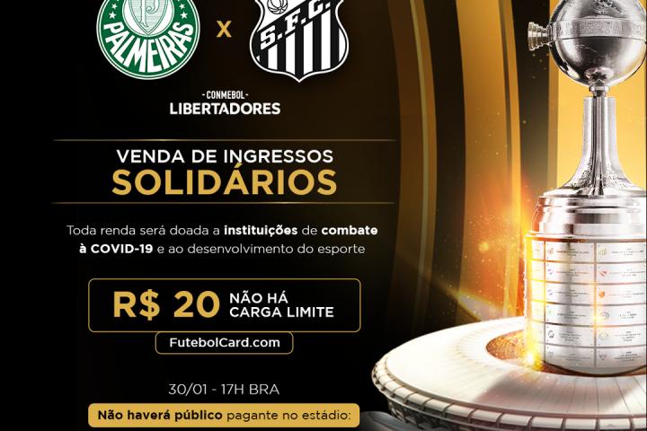 Final da Libertadores terá ingressos solidários com renda revertida para a Rede Cidadã